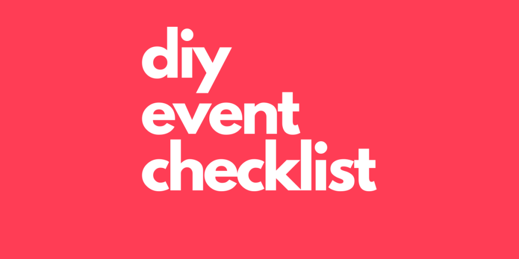 DIY Party Checklist