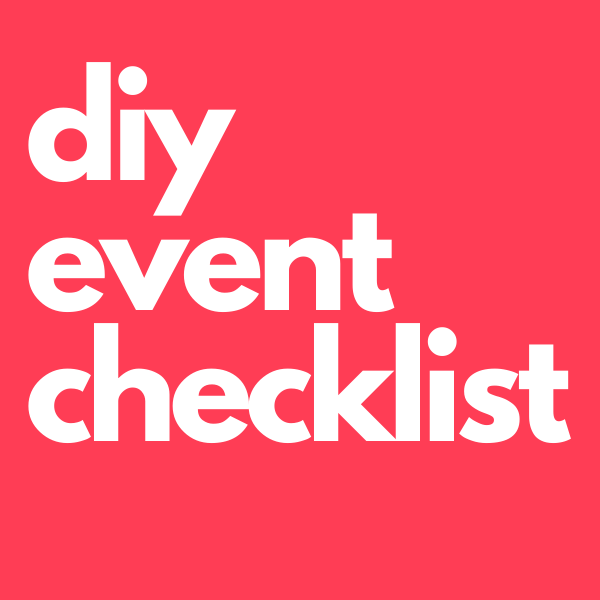 DIY Party Checklist