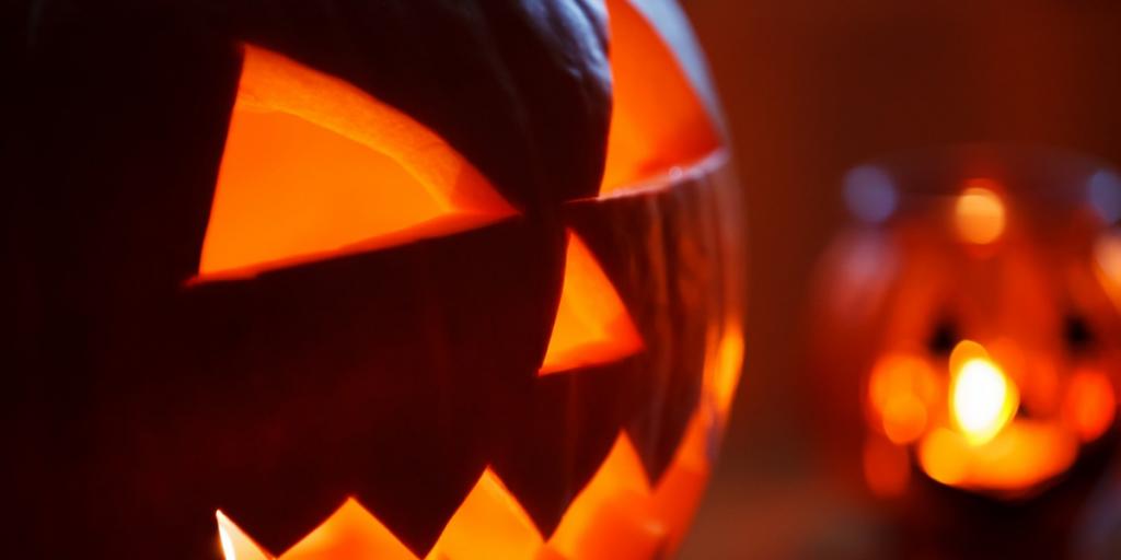 Halloween party featuring pumpkin